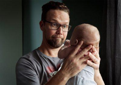 Мъжът и бебето